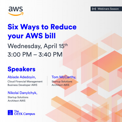 Webinar: Six Ways to Reduce your AWS bill